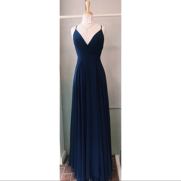 Dresses & Skirts - Long navy blue gown